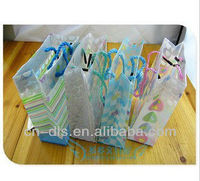 opp bread bag opp film laminated non woven shopping bag opp bag with paper card