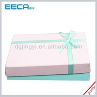 Hot Selling Cardboard Gift Box/Paper packing Box with Ribbon Cross & Bows