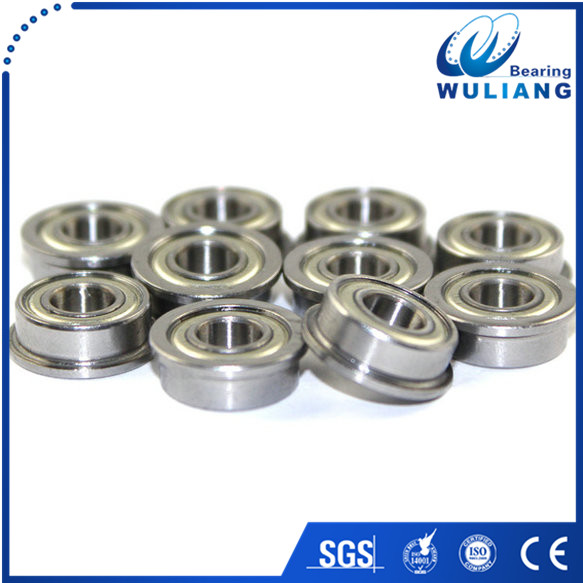 Inch type flange ball bearing size F2-5ZZ 3.175x7.938x3.571mm miniature ball bearing