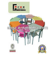 Cafe Kid Table and Chairs/Baby Study Set/Preschool Student Desk and Chair of Kindergarten Furiture