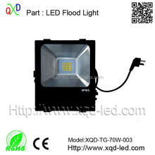 TOP Quality Meanwell Driver IP67 led flood light, good brightness 70w led flood light