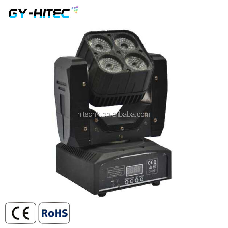 Factory price 4x15w mini matrix led moving head <strong>beam</strong> wash lights