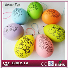 2017 Wholesale DIY Decoration Colorful Plastic Easter Eggs