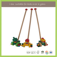 Export Europe Top Selling Pull And Push Baby Train Educational Wooden Toys
