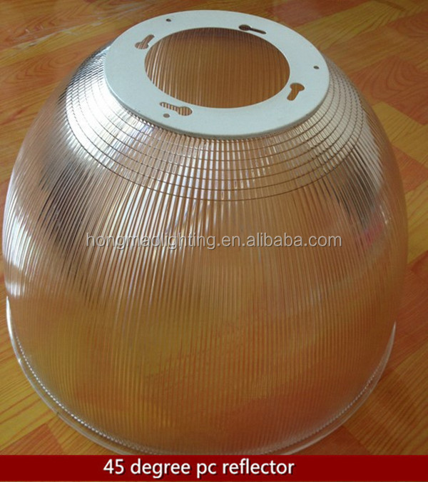 45 degree 120 degree 120w led high bay transparent pc lampshade/diffuser/cover/reflector