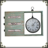 Newest desktop wooden distressed charming home decoration clock