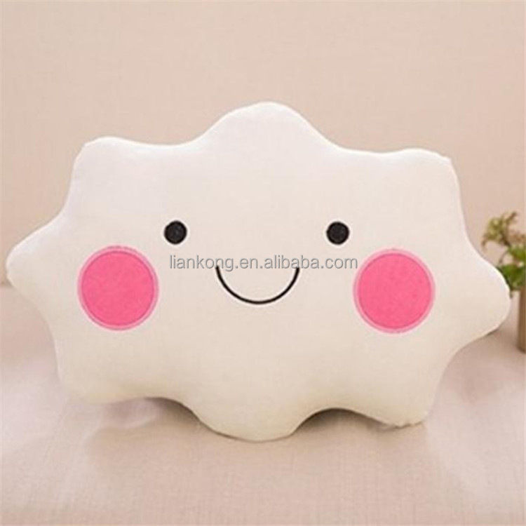 2017 Factory direct sale cloud shaped pillow plush toy Childrens Toys smile clouds pillow