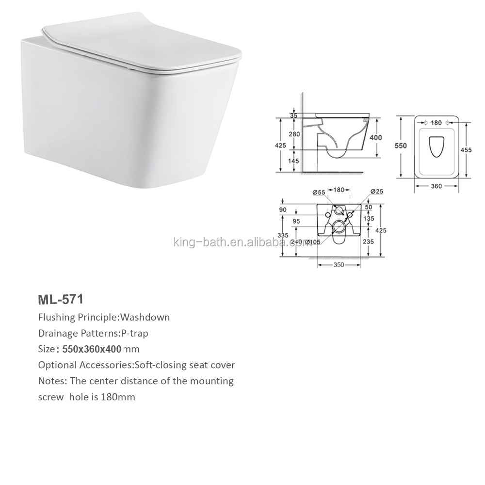 freestanding comfort and rimless toilet ,Ceramic Bathroom user-friendly toilet back to wall