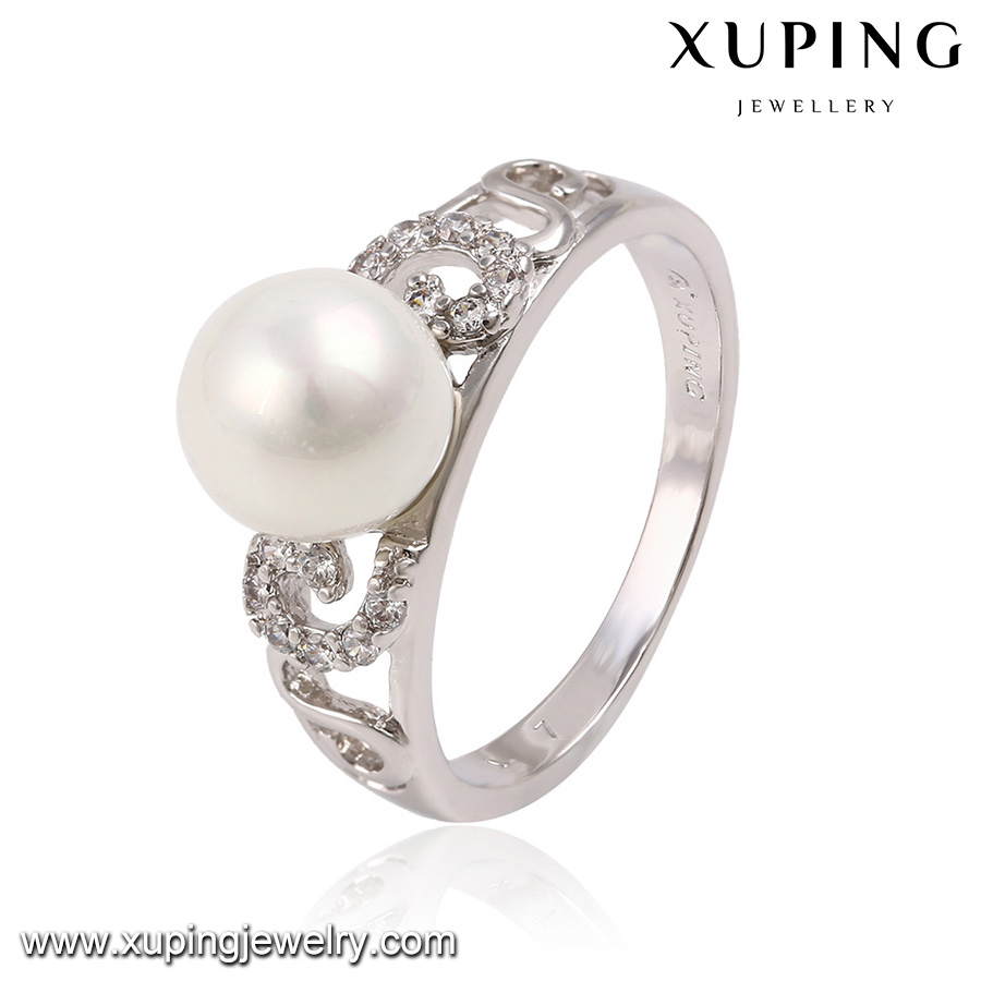 13760-wholesale costume jewelry fashion 2015 fake wedding pearl rings