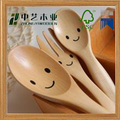 Cute spoon for kids FSC natural wood tasting spoon icecream spoon