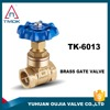 Double Female Threaded Gate Valve Brass Water Flow Control Valve Water Valve For Water Nickel Plated In China