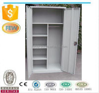 Metal wardrobe cabinet with inside shelf/wardrobe armoire