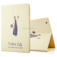 anti gravity folio case color printing stand pu leather case for ipad 2-3-4 with custom design