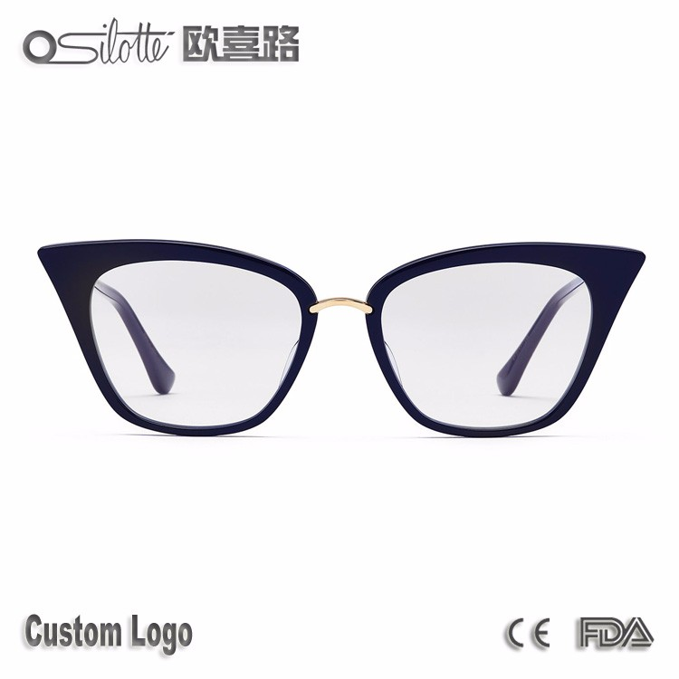 Top end american brand fiber eyeglasses frames rebella acetate eyewear cat eye optical frame
