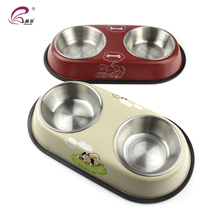 Best selling dog food water dish double stainless steel feeder dinner bowl