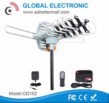 hot sale popular outdoor type amplified 360 degree rotating tv antenna used America OD102