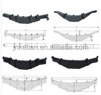 heavy duty leaf springs for bogie and susupension