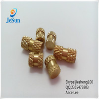 Straight Knurled blind hole brass insert nuts+8613537382696