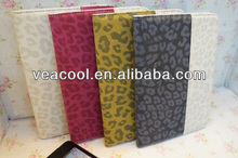 "Dual Color Leopard PU Leather Case for Apple iPad MINI 7"" Stand Case"