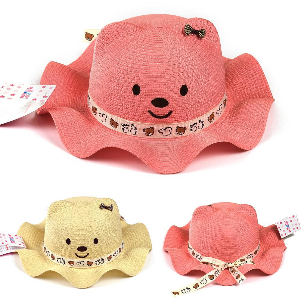 Get Quotations · Korean Fashion Baby Hat Baby Sun Cap Summer Cute Bear Sun  Hat Visitor Seabeach Hat For b62562058db
