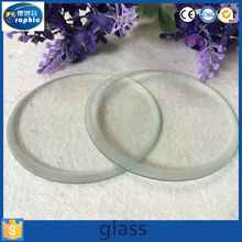 High light transmission safety downlight cover glass with bevel edge