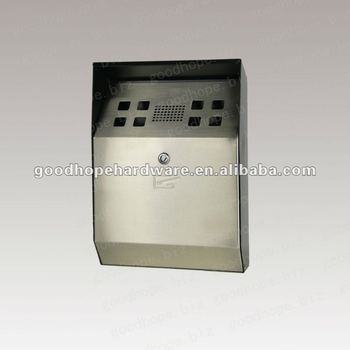 GH-C3B-SP wall mounted stainless steel cigarette bin