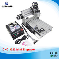 3 Axis 3020 Z-DQ mini CNC ROUTER CNC milling machine with ball screws,upgrade from 3020T-DJ with Tungsten Carbide Cutter