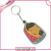 Personality custom design softer PVC 3D keychain made in China
