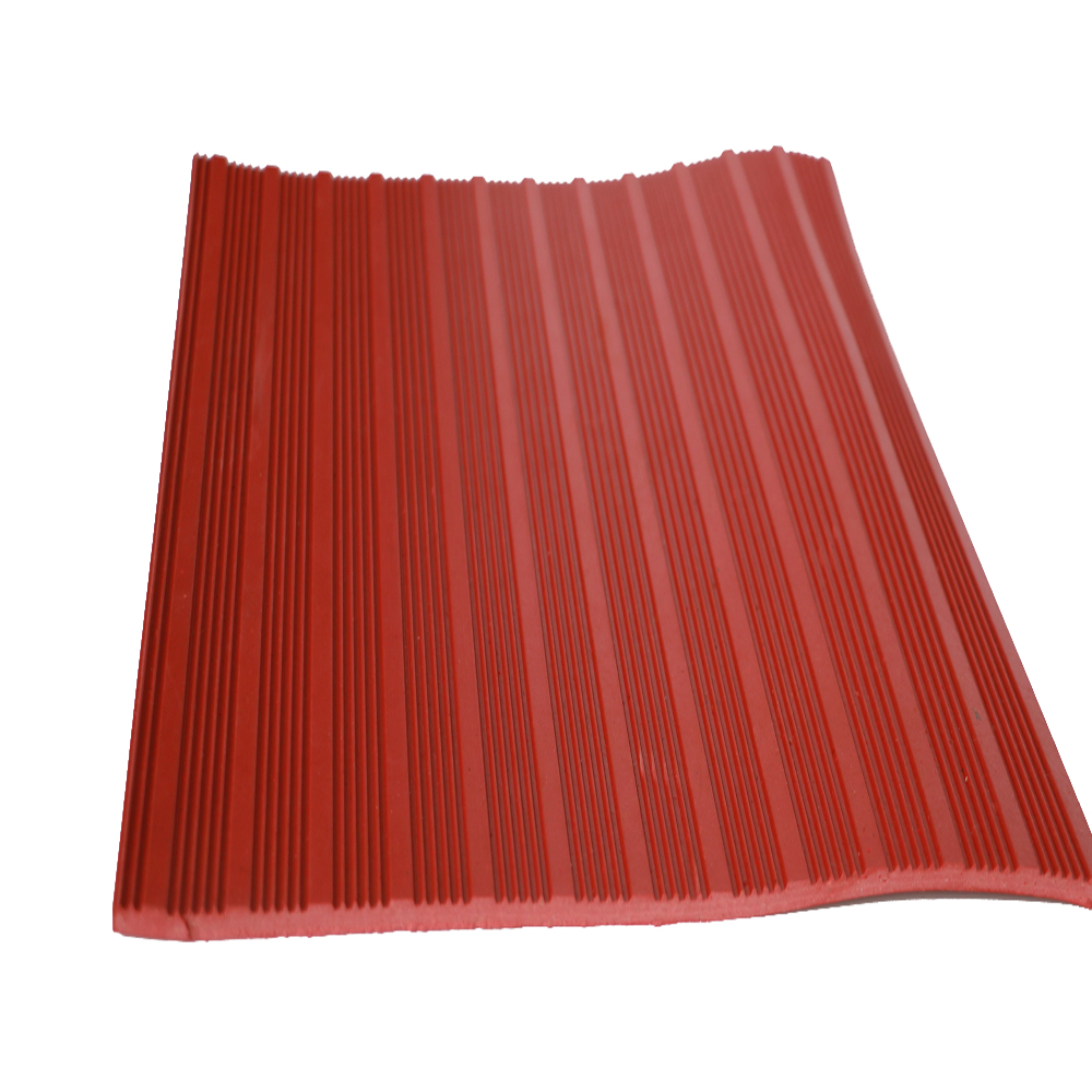 Anti Slip Fine Thin Narrow Ribbed Corrugated Rubber Floor Mat For Workshop
