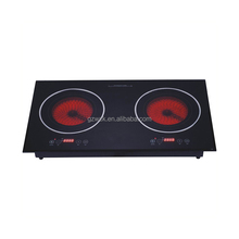 China Manufacturer wholesale Grade A Black Crystal Panel 2 burners induction cooker