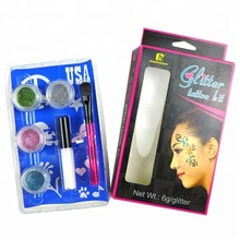 Cheap Sparkle Fantasy DIY Glitter Tattoo Kit With Crystal and Stencils