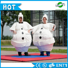 Sport game Inflatable snowman sumo suits, sumo wrestling suit for sale, fighting game stuffed sumo for kids/adults