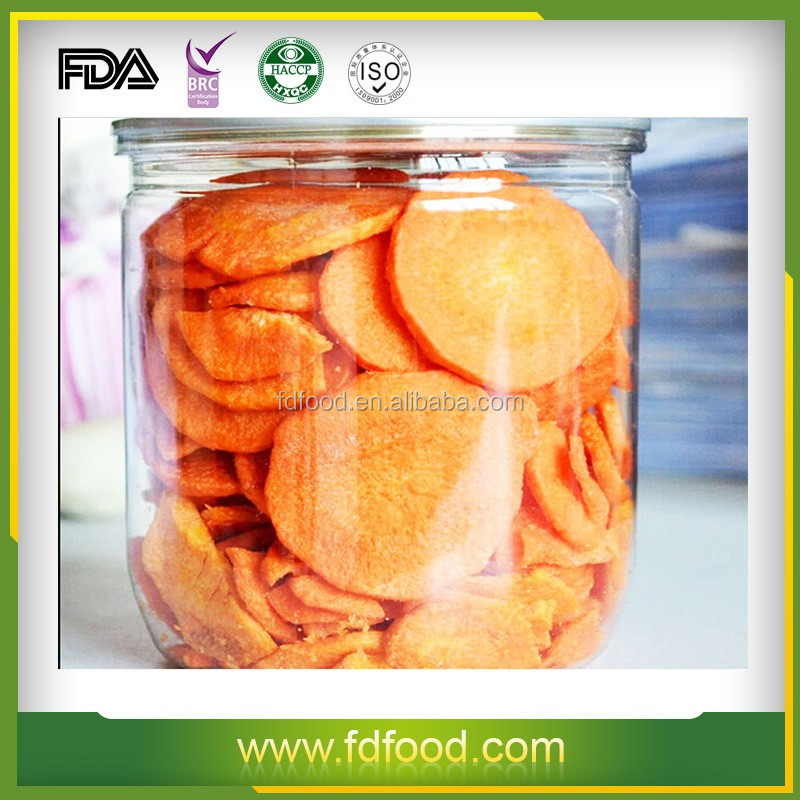 Nothing Added High Quality FD Food Freeze-Dried Carrot For Instant Meals