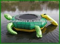 Funny inflatable turtle water trampoline,island hopper turtle hop