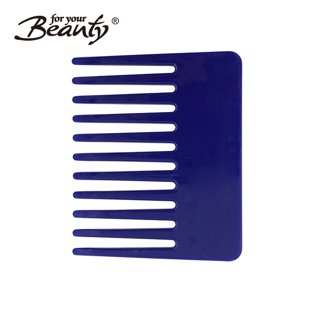 Small Flat Wide Tooth Plastic Hair Top Comb, Easy to Carry Common Comb for Home and Salon