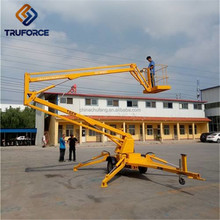 high quality 33-59ft towable boom lift light duty small electric man lift table