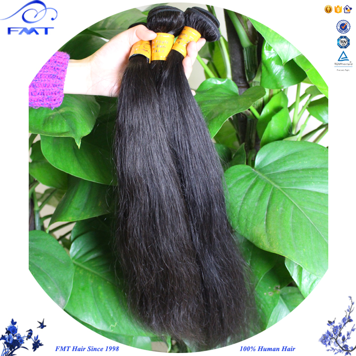 FMT Hot Sale Human Hair Factory Directly Price Straight Weft Hair Extension Wholesale Indian Virgin Hair