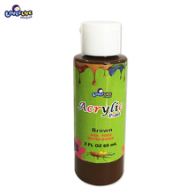 The fine quality 60ml non-toxic water based plastic bottle artist acrylic paint