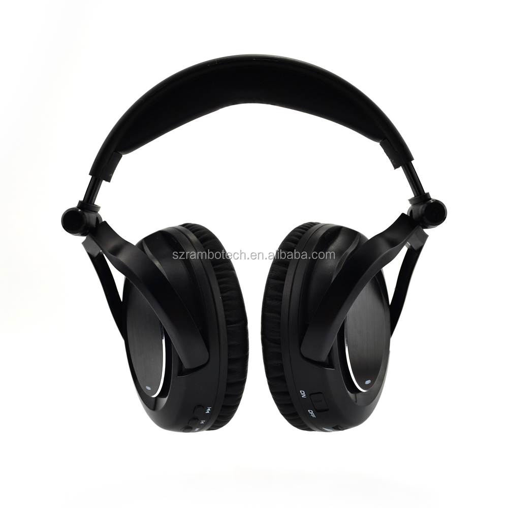 Active noise cancelling bluetooth headphone soft bt earmuff wireless foldable promotional headphones RNC50