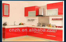 Acrylic cabinets MDF Wood Kitchen Units