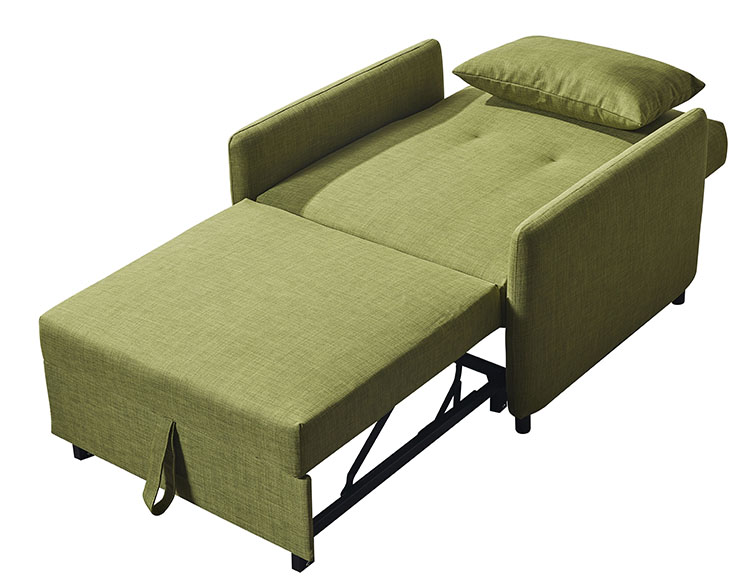Single sofa bed one seat sleeper sofa for small department foshan furniture