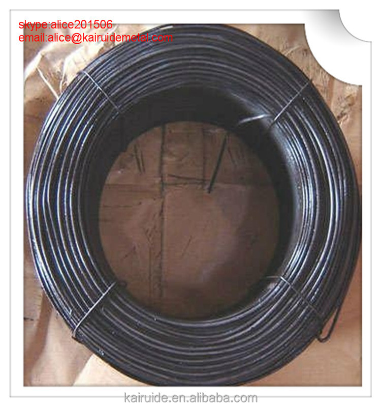 Black Annealed Binding wire/black tie wire/soft black anneald iron wire for building