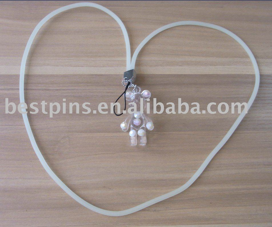 sillicon mobile phone strap/crystal pendant/charm, soft pvc mobile phone cleaner