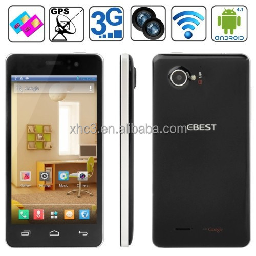 EBEST V5 4GB Black, GPS + AGPS, Android 4.2.1, MTK6572 1.0GHz Dual Core, RAM: 512MB, 4.5 inch Capacitive Screen Smart Phone