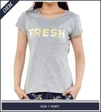 Lady relax fit 50/50 ring spun combed cotton/poly t shirt 2015