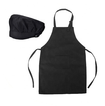 Personalized logo Chef's Apron Hat Set for Kids
