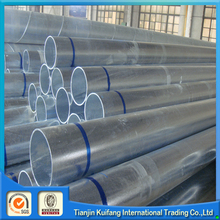 Q195 round galvanized pipe/galvanized steel support
