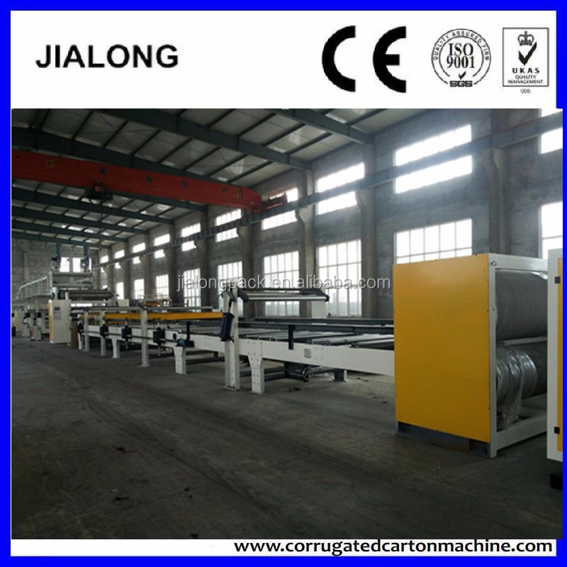 3 layer corrugated cardboard production line waste paper recycling machine for cardboard paper