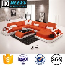 U shape leather sofa ,Germany big size living room leather sofa