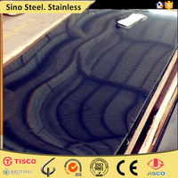 Decorative titanium coated stainless steel sheet color paint
